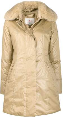 Peuterey quilted fur trim jacket