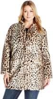 Via Spiga Women's Plus Size Faux Fur Jacket