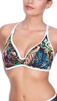 Freya Womens Club Tropicana Underwire Convertible Banded Halter Bikini Top