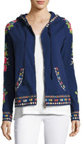 Rina Embroidered Hoodie, Plus Size
