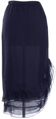 Valentino Navy Silk Skirts