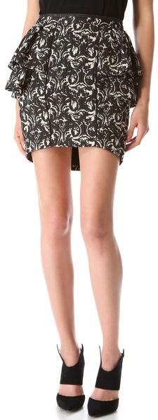 Jay Ahr Paisley Tiered Skirt