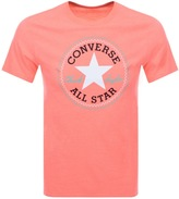 Converse Logo Crew Neck T Shirt Orange