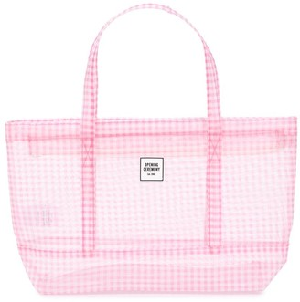 Opening Ceremony Chinatown gingham tote bag