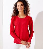 LOFT Bobble Heart Sweater