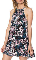 O'Neill Melina Floral-Print Tie-Front Halter Neck Trapeze Dress