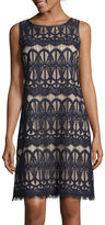 Jessica Howard Sleeveless Lace Shift Dress
