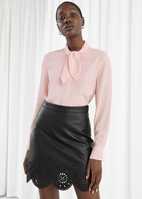 And other stories Satin Neck Bow Blouse