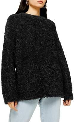 Topshop Longline Bouclé Sweater