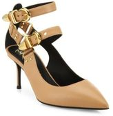 Giuseppe Zanotti Double-Strap Leather Point-Toe Pumps
