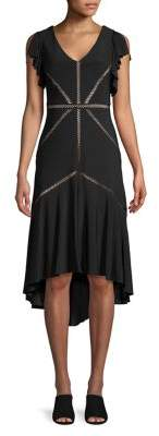 Taylor Lattice Flutter A-Line Dress