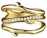 Shaun Leane Women's Diamond Yellow Gold Vermeil Cherry Branch 3 Band Ring - Size J