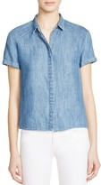 Alice + Olivia Koi Chambray Shirt