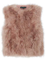 Jocelyn Blush Feather Vest