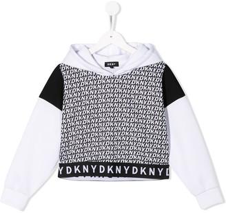 DKNY logo print hoodie