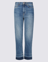 Limited Edition Drop Hem Mid Rise Straight Leg Jeans