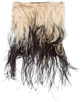 Valentino Ostrich Feather Evening Bag