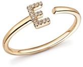 Dana Rebecca Designs Diamond Initial Ring in 14K Yellow Gold