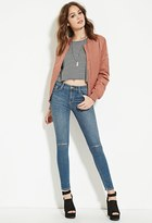 Forever 21 Distressed Skinny Ankle Jeans