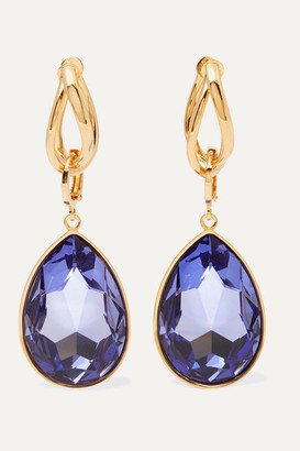 Mounser Night Sky Gold-plated Crystal Earrings - Blue