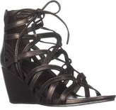 Kenneth Cole Reaction Cake Pop Wedge Sandals, Pewter.