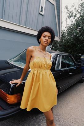Urban Outfitters Helena Poplin Babydoll Dress
