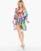 Chico's Spring Embrace Belted Swim Cover-Up Kimono