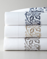 Sferra Two Standard 406TC Plumes Embroidered Pillowcases
