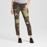 Dollhouse Women's Mid Rise Patchwork Camo Jeans Juniors')