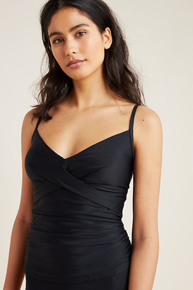 Anthropologie Tricia Criss-Cross Tankini By in Black Size XS