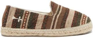 Manebi Marrakesh Striped Espadrilles - Brown Stripe