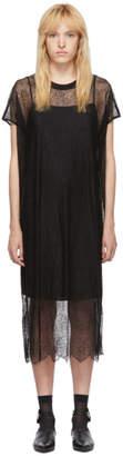 McQ Black Lace Short Sleeve Dress