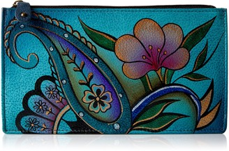 Anuschka Women's Handpaint LR Org Wlt-1707-DPF Card Holder