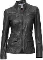 Heine Zip Detail Leather Biker Jacket