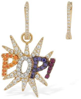 Apm Monaco Asymmetric Pop Multicolor Earrings