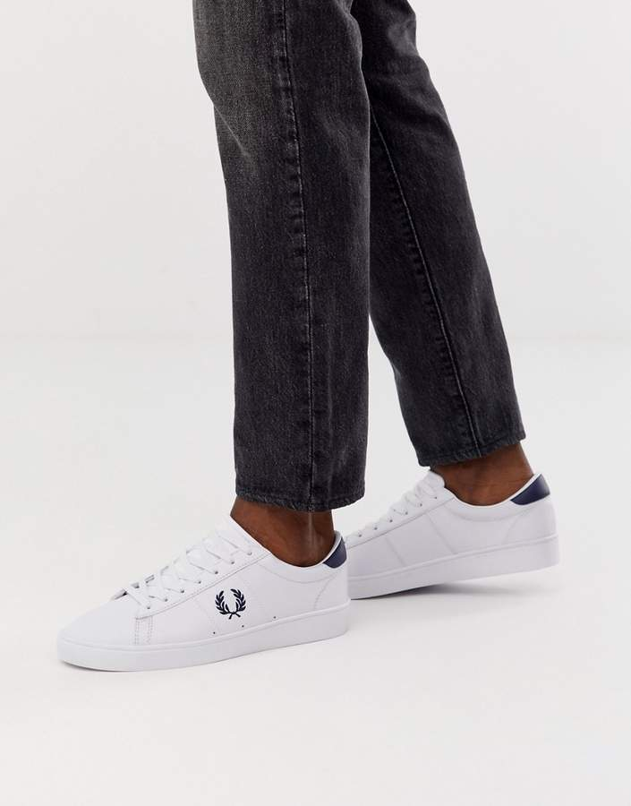 2ba89810536cd Spencer leather sneakers in white