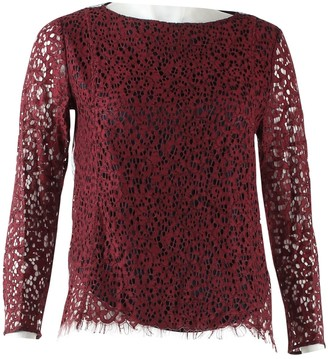 Carven Burgundy Top for Women