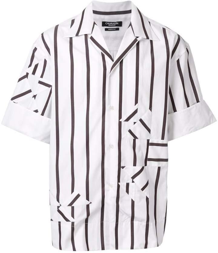 Calvin Klein striped patch shirt