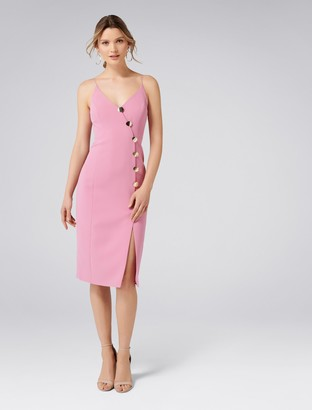 Forever New Rory Button Bodycon Dress - Blush Mauve - 16