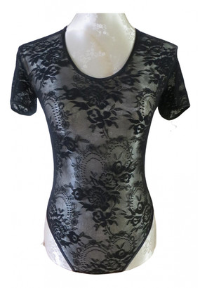 Christian Dior Black Lace Tops
