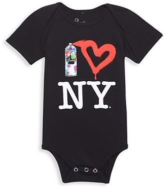 Piccoliny Baby's Spray Paint Heart NY Bodysuit