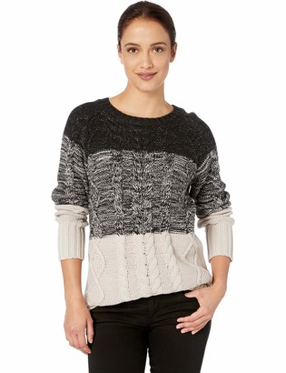 Tribal Women's L/S Cable Gradiant Sweater