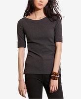 Lauren Ralph Lauren Petite Stretch Boat-Neck T-Shirt