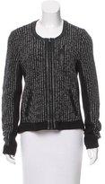Rag & Bone Leather Trim Knit Jacket