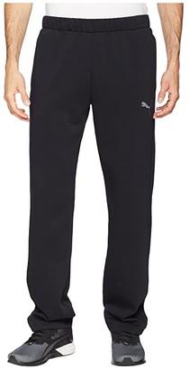 Puma P48 Modern Sports Fleece Open Pants (Black) Men's Workout
