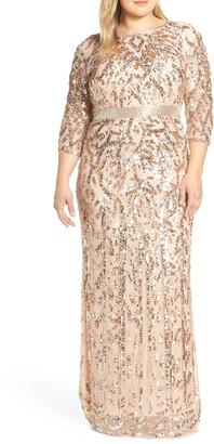 Mac Duggal Beaded Evening Dress