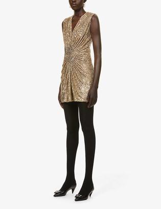Balmain Sequin-embellished mini dress