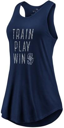 Women's Fanatics Branded Navy Seattle Mariners Train, Play, Win Tank Top