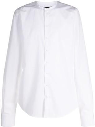 DSQUARED2 Collarless Long-Sleeve Shirt