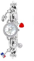 "Game Time Women's MLB-CHM-PIT2 ""Charm"" Watch - Pittsburgh Pirates - ""P Logo"""